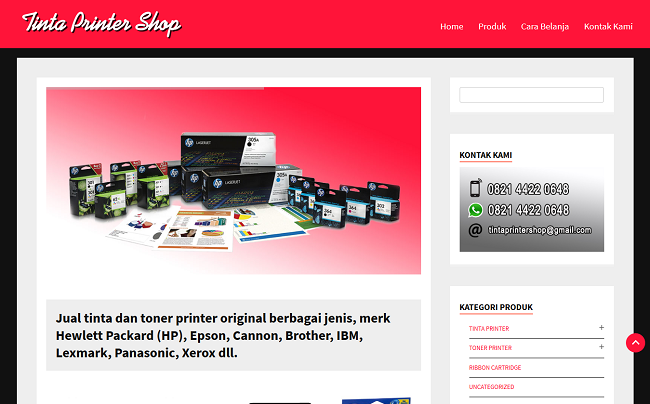 Tinta Printer Shop