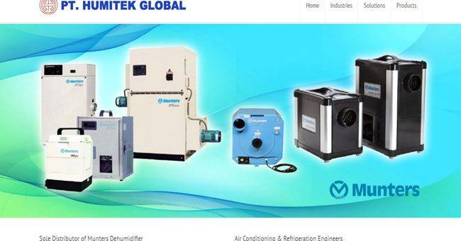 Pembuatan Website Distributor AC dan Dehumidifier