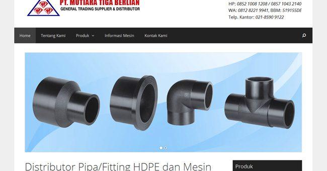 Pembuatan Website Distributor Fitting HDPE