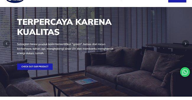 Pembuatan Website Distributor Produk Window Fashion